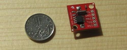 Hotové zapojení s DS1307 od Sparkfun.com.