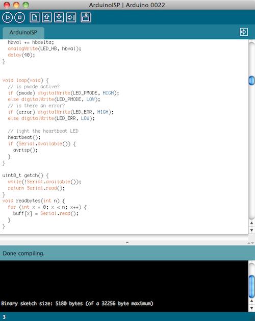 Pracovní prostředí Arduino IDE.