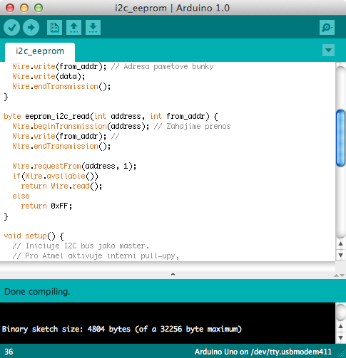Arduino IDE ve verzi 1.0.