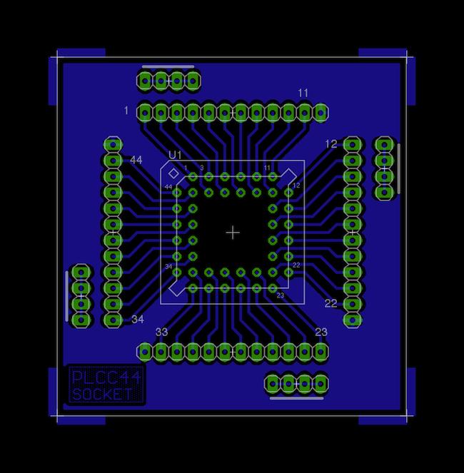 Vývojová deska pro PLCC44.