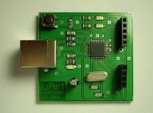 Vývojová deska s ATMega8U2, verze 1.