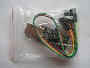 Balíček s USB-UART převodníkem.