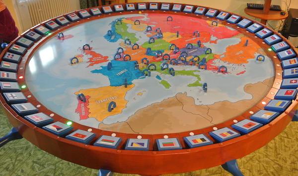 Main board of Europe game.