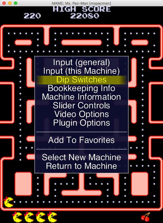 Herní menu se zobrazí po stisku klávesy TAB.