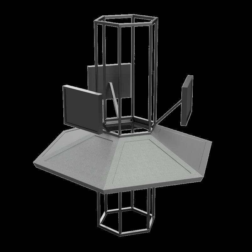Model naší interpretace konzole TARDIS, která bude na táboře sloužit jako centrální počítač MATKA pro průzkum neznámé planety.
